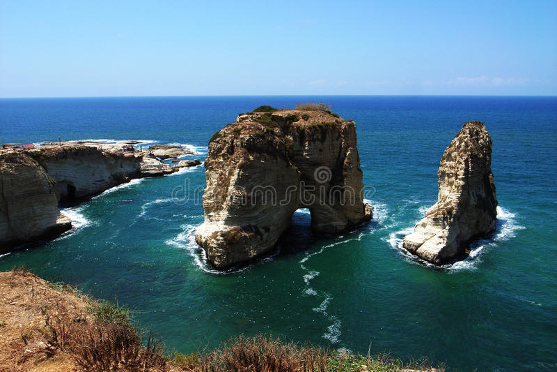 Paysage à Beyrouth Liban photographie stock libre de droits