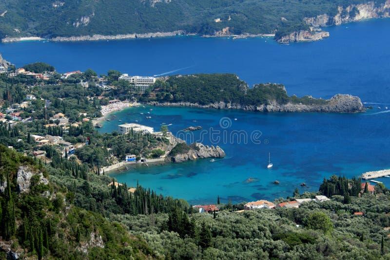 Paysage à Corfou, Grèce images libres de droits