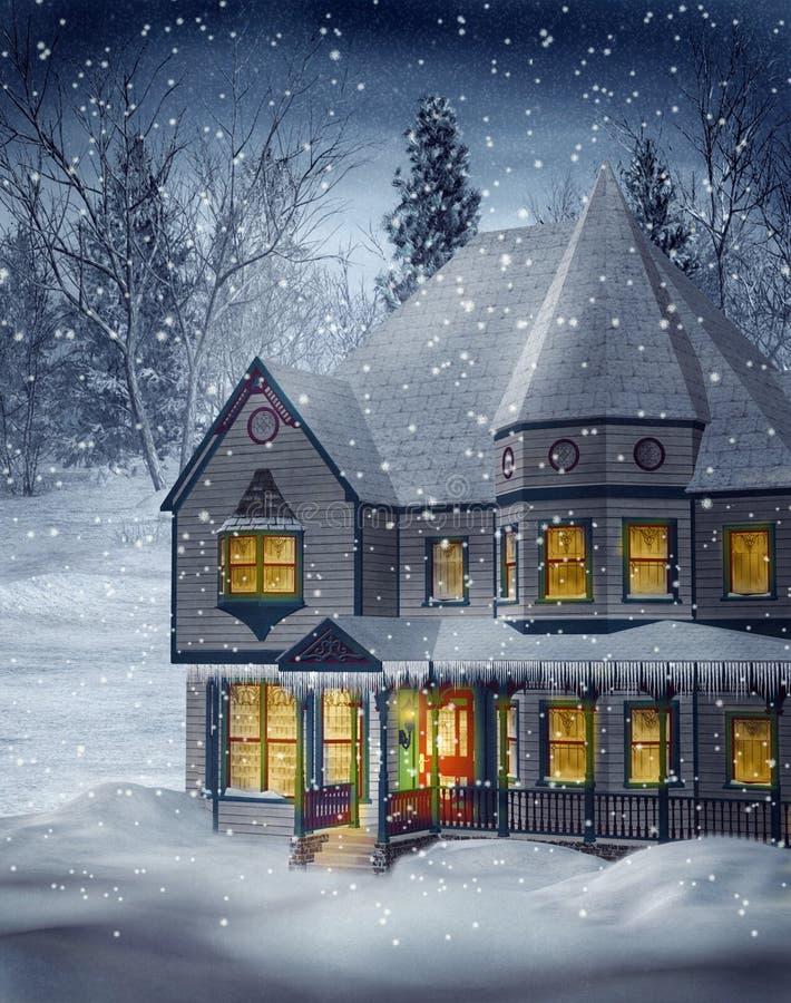 Paysage 1 de l'hiver illustration stock