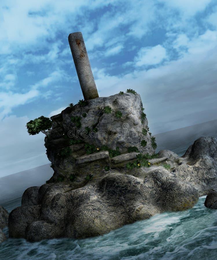 Paysage 100 d'imagination illustration stock