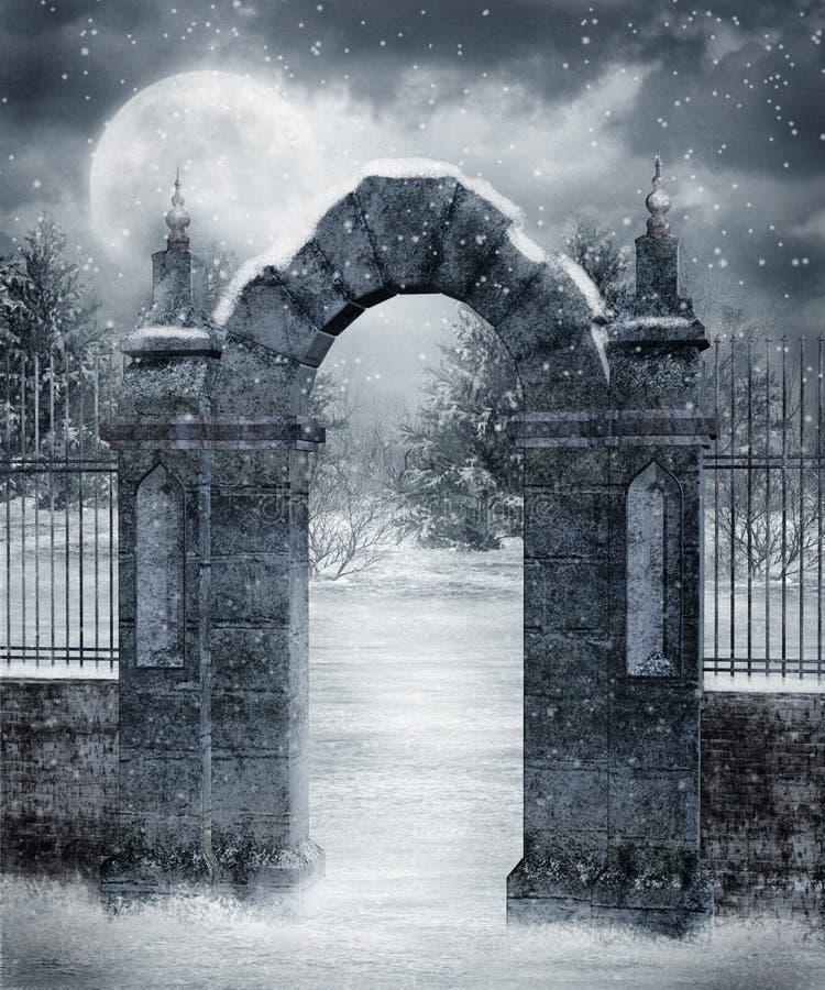Paysage 20 de l'hiver illustration libre de droits