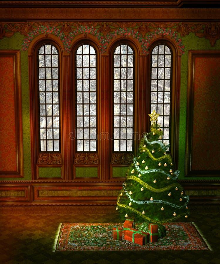 Paysage 5 de Noël illustration libre de droits