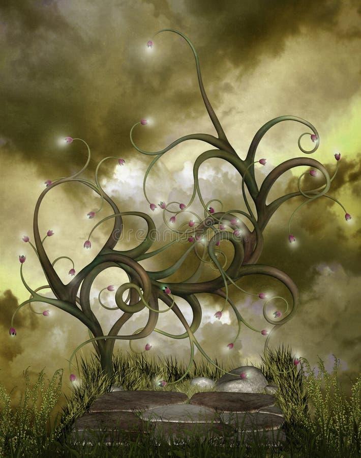 Paysage 60 d'imagination illustration de vecteur