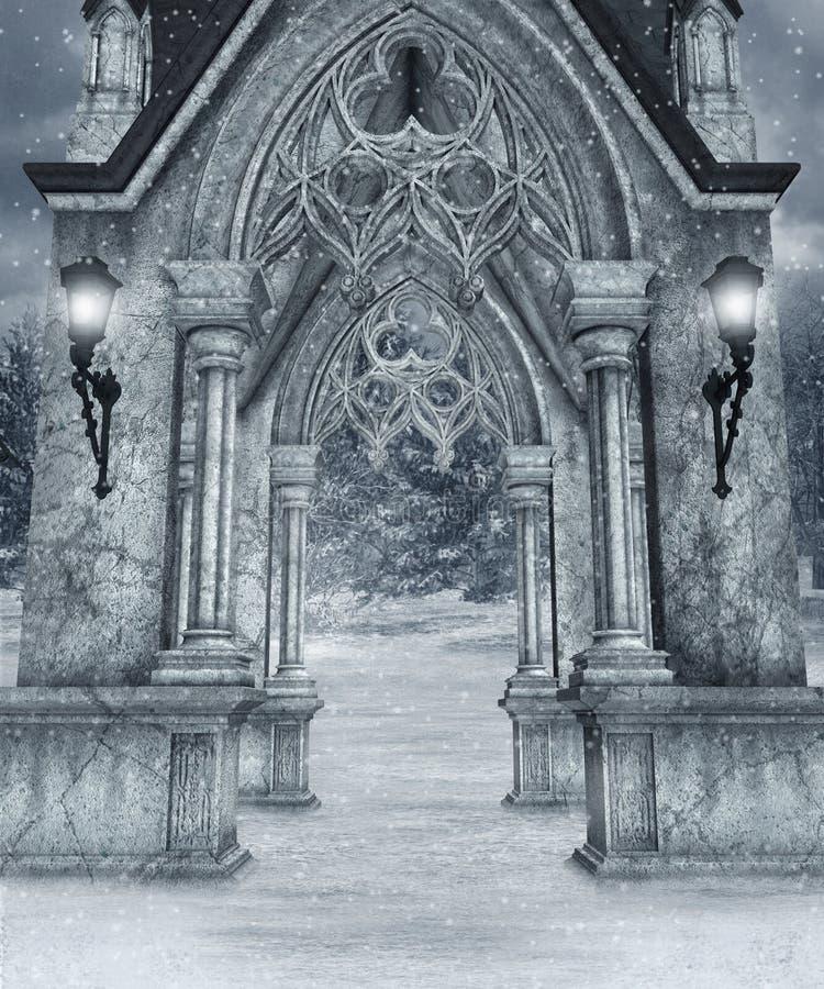 Paysage 7 de l'hiver illustration libre de droits