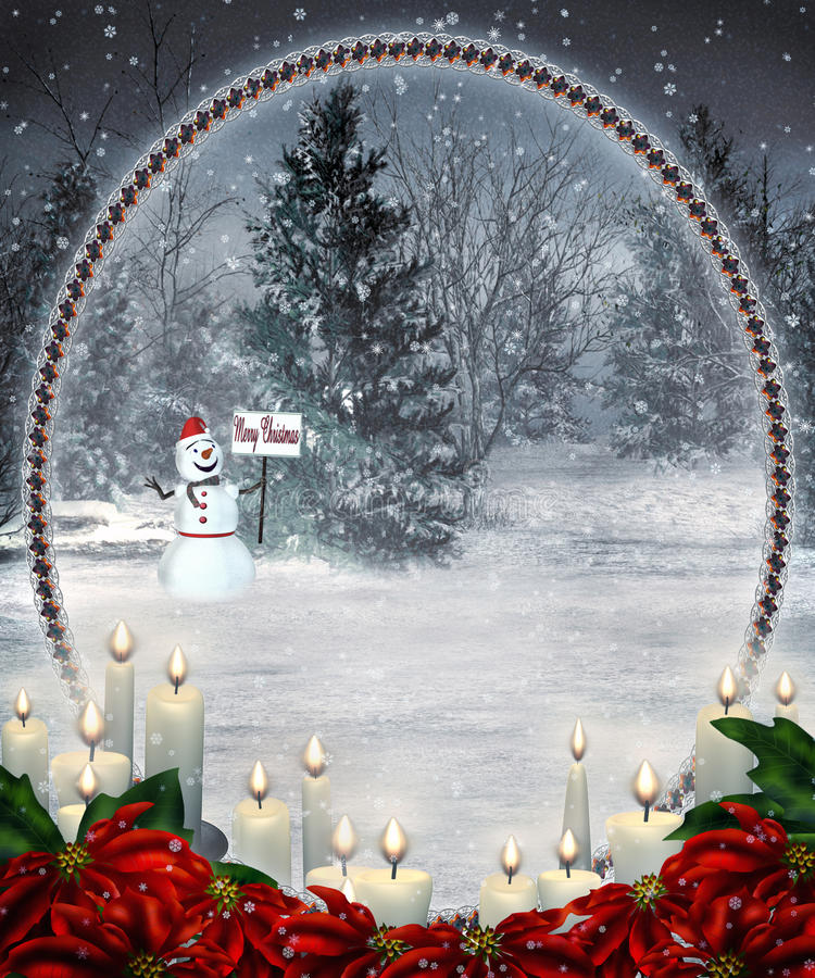Paysage 9 de Noël illustration stock