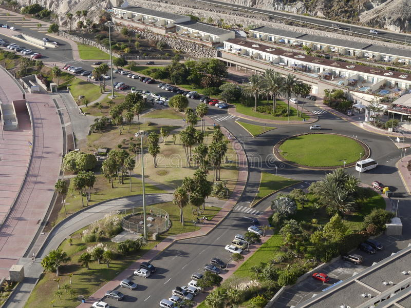 Paysage aérien de ville photographie stock libre de droits