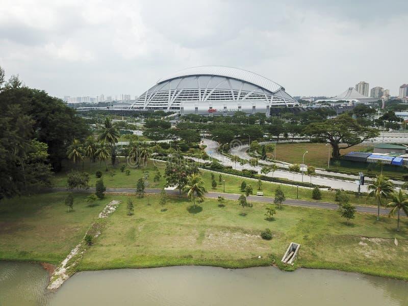 Paysage aérien du hub de sports de Singapour photos libres de droits