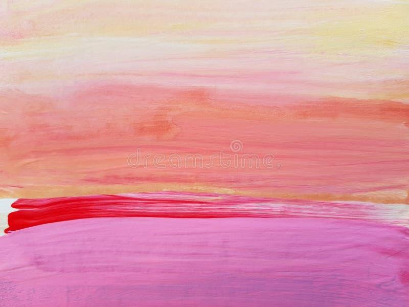 Paysage abstrait Art Painting Background Art moderne photos libres de droits