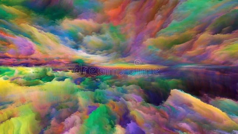 Paysage abstrait virtuel illustration stock
