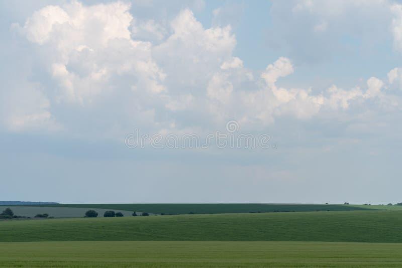 Paysage agricole dans la région de Podolia de l'Ukraine photo stock