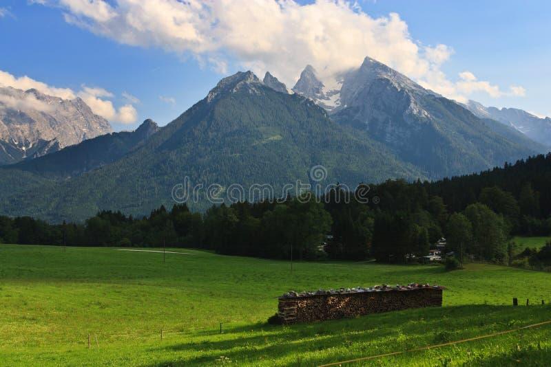 Paysage alpin élevé, Allemagne image stock