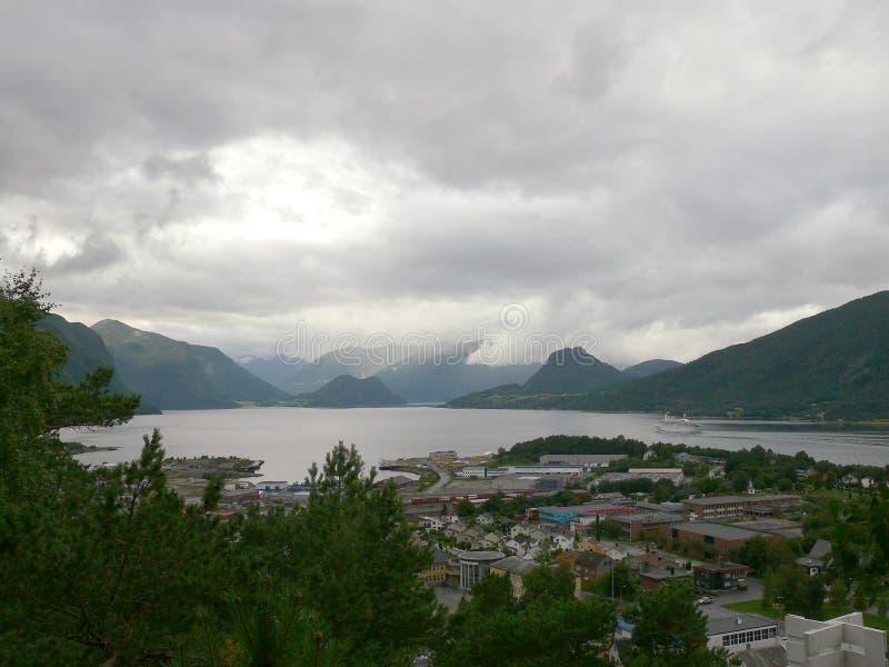 Paysage Andalsnes Nesaksla de la Norvège photos libres de droits