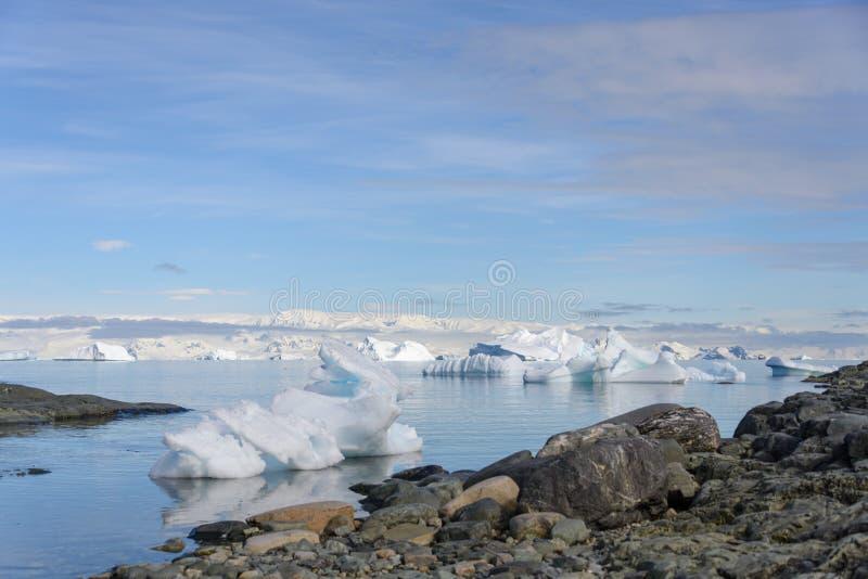 Paysage antarctique avec l'iceberg images libres de droits