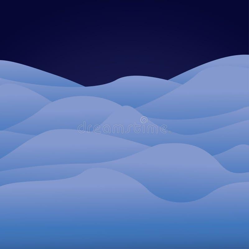 Paysage arctique de bande dessinée, fond avec de la glace et collines de neige photographie stock libre de droits