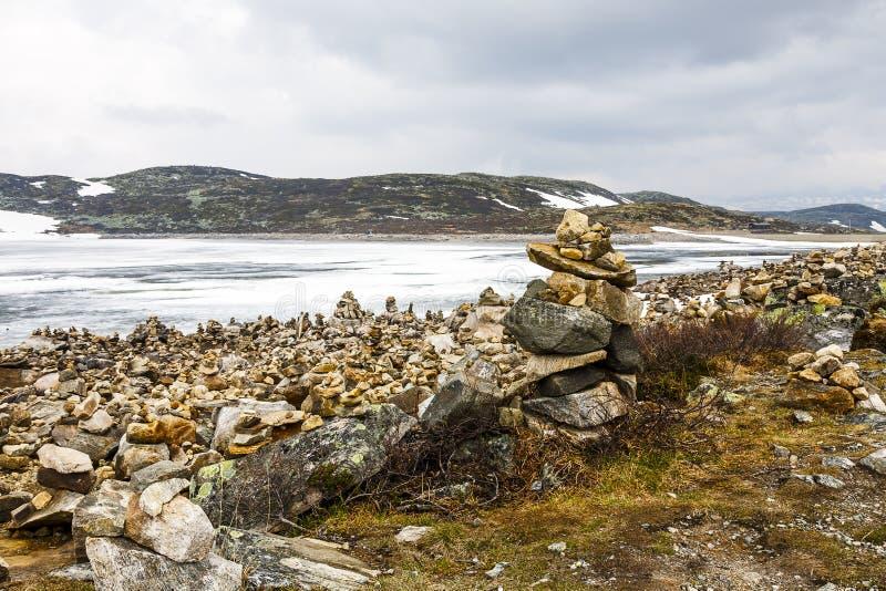 Paysage arctique glacial en Norvège images stock