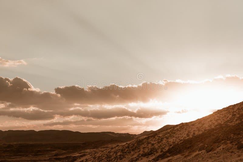 Paysage aride Sinai, Egypte de désert d'or photos stock