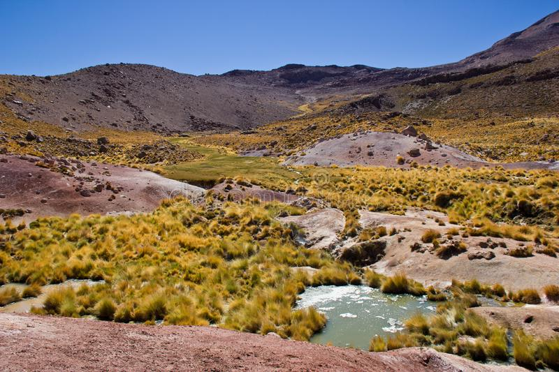 Paysage au Chili/Atacama photo libre de droits