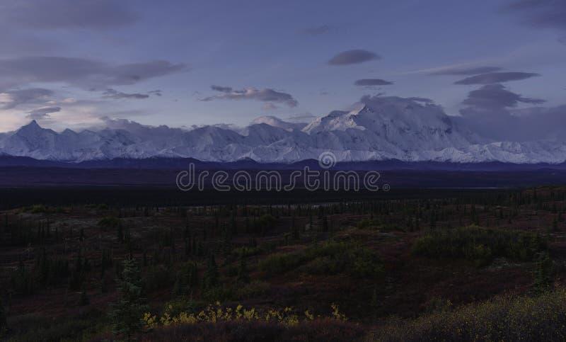 Paysage automnal de parc national de Denali au lever de soleil photos libres de droits