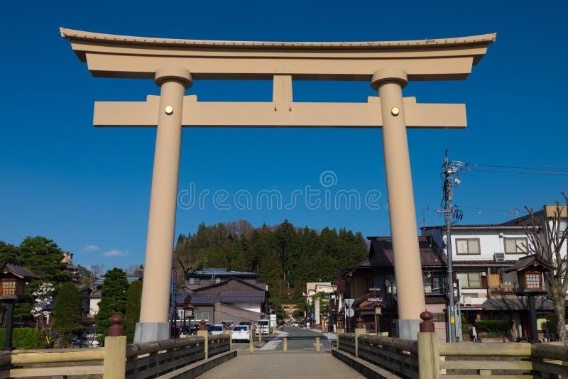 Paysage autour de ville de Takayama, Japon photo libre de droits