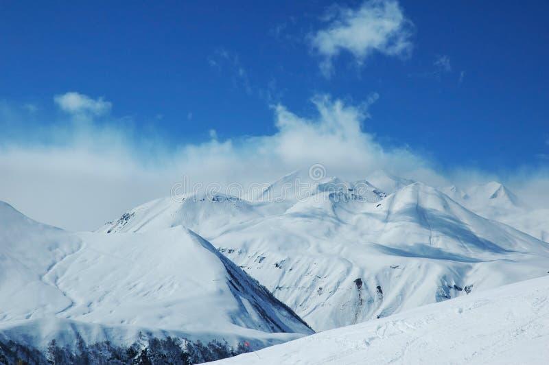 Paysage avec des montagnes photo stock