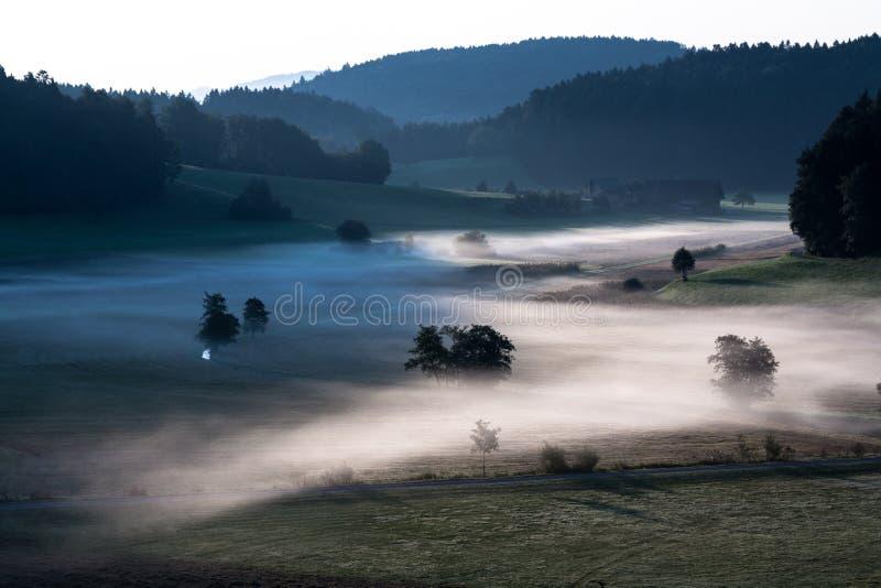 paysage brumeux images libres de droits