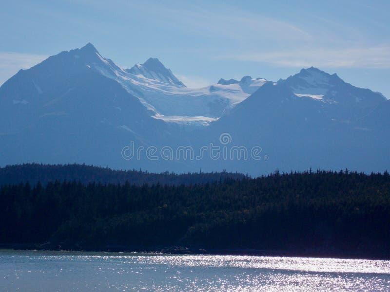 Paysage côtier de l'Alaska image stock