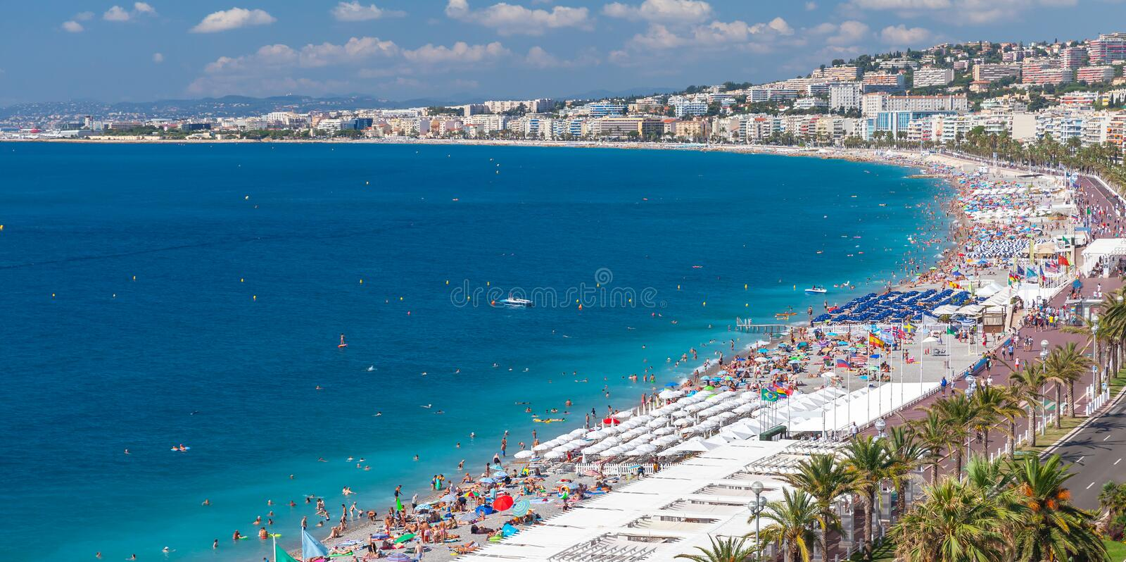 Paysage c?tier panoramique de Nice, France photographie stock