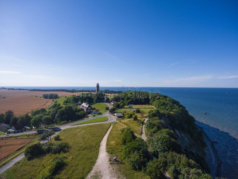 Paysage côtier chez Kap Arkona sur la mer baltique d'île de Ruegen images stock