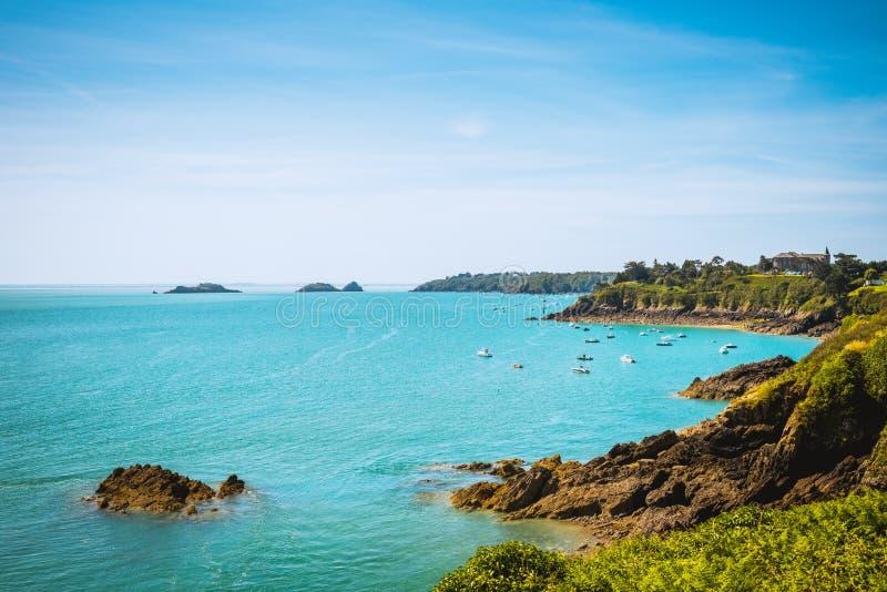 Paysage côtier la Bretagne, France image libre de droits