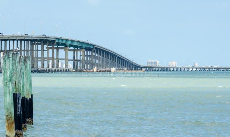 Paysage côtier près d'île le Texas d'aumônier photo libre de droits
