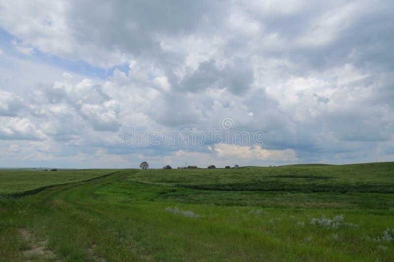 Paysage canadien de prairies image libre de droits
