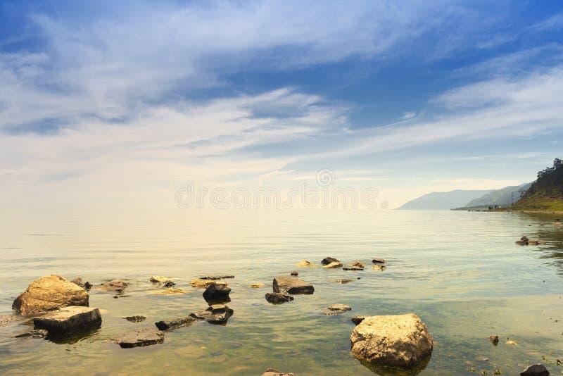 Paysage chez le lac Baïkal photographie stock