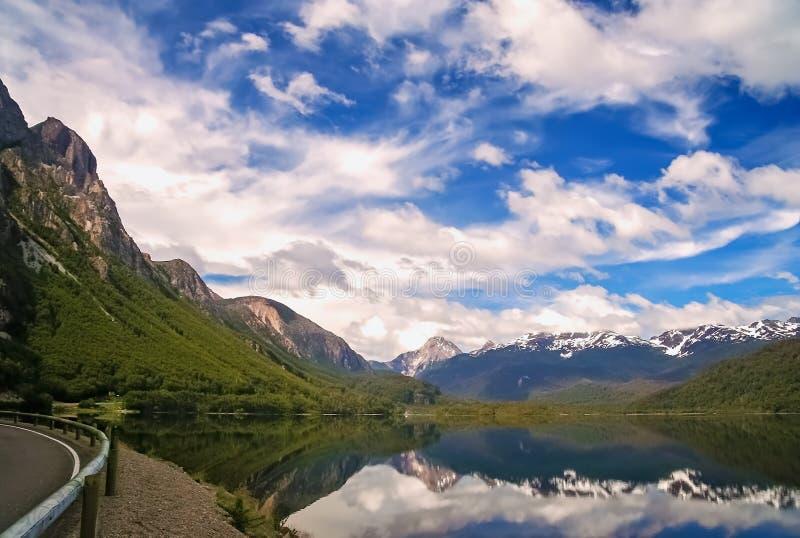 Paysage chilien de patagonia photographie stock libre de droits