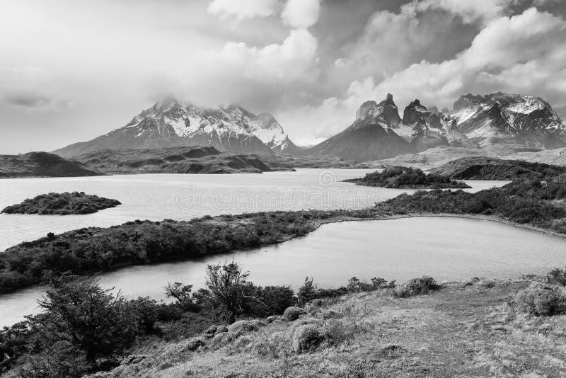 Paysage chilien de Patagonia, parc national de Torres del Paine image libre de droits