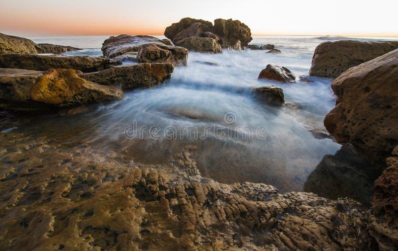 Paysage coloré d'océan de Laguna Beach photos libres de droits