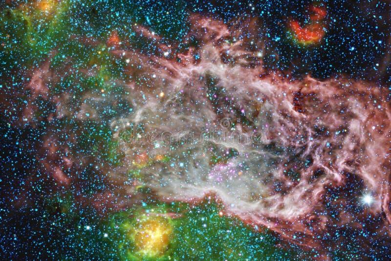 Paysage cosmique, papier peint coloré de la science-fiction avec l'espace extra-atmosphérique sans fin photographie stock