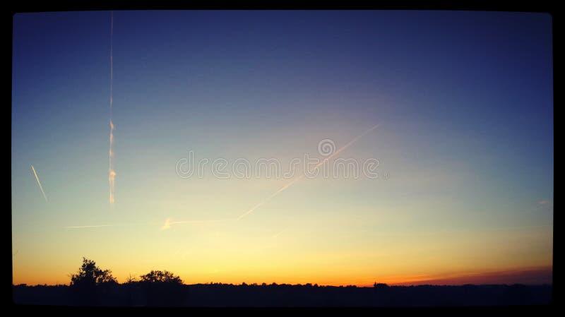 Paysage, coucher de soleil foto de stock