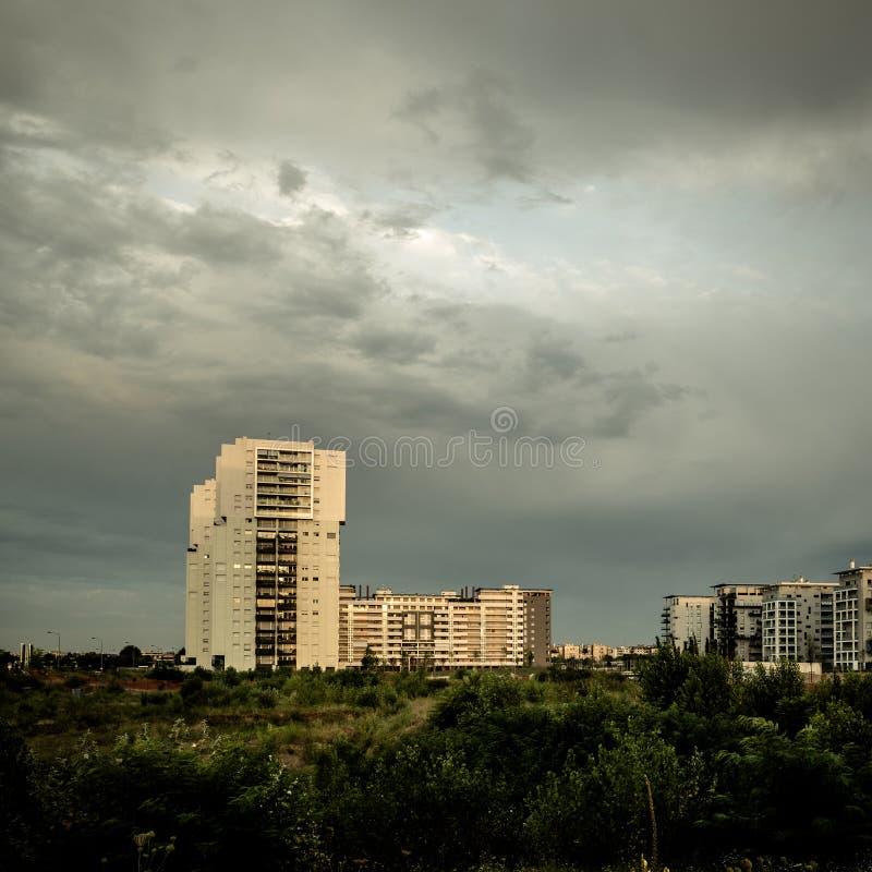 Paysage désolé de banlieue photographie stock libre de droits