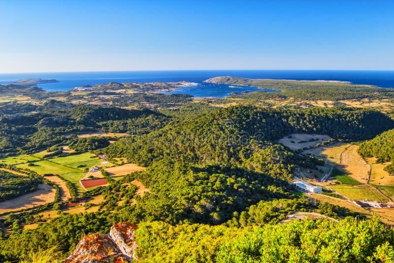 Paysage d'île de Menorca photo stock