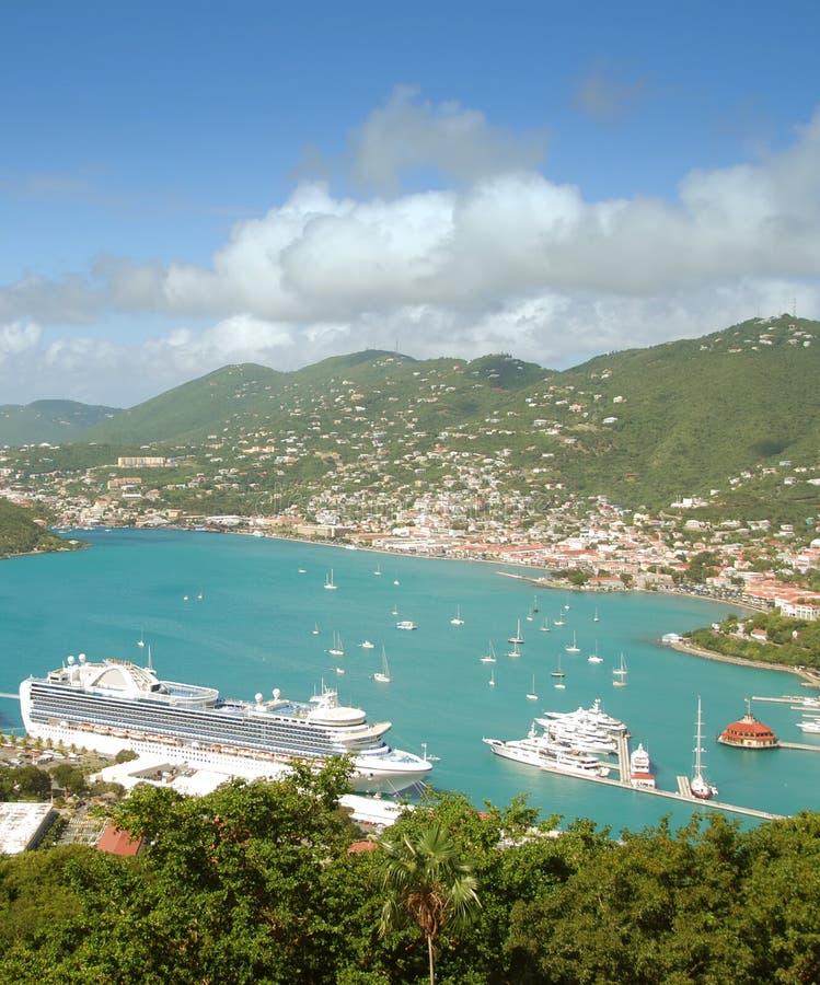 Paysage d'île des Caraïbes photo libre de droits