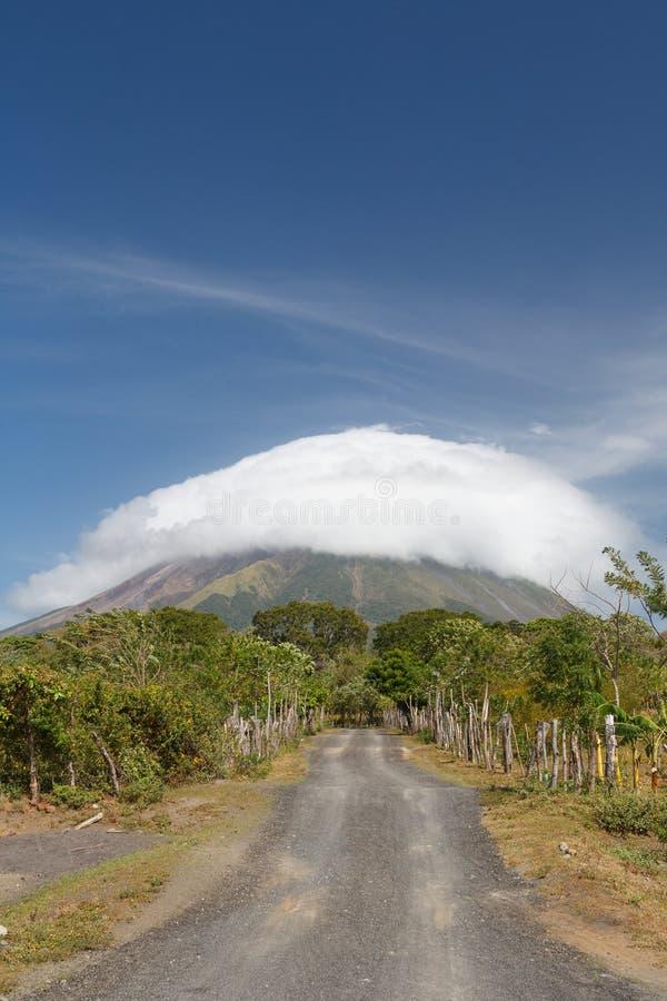 Paysage d'île d'Ometepe images libres de droits