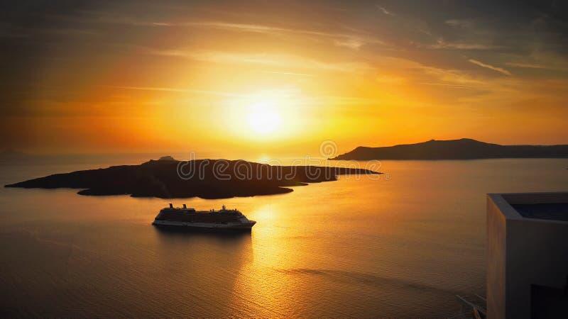 Paysage d'îles de coucher du soleil image libre de droits