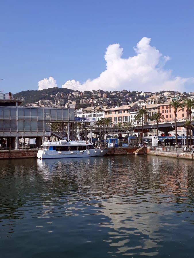 Paysage d'antico de Gênes Porto images libres de droits