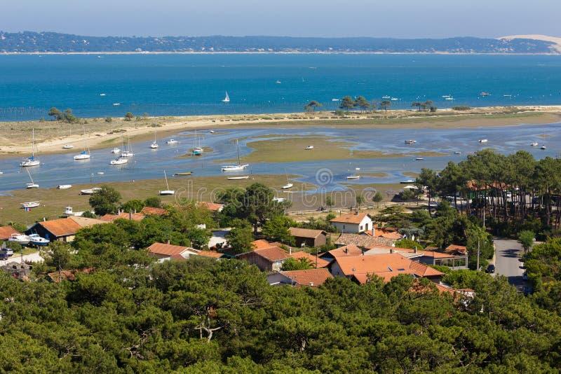 Paysage d'Arcachon de Bassin dans les Frances photographie stock libre de droits