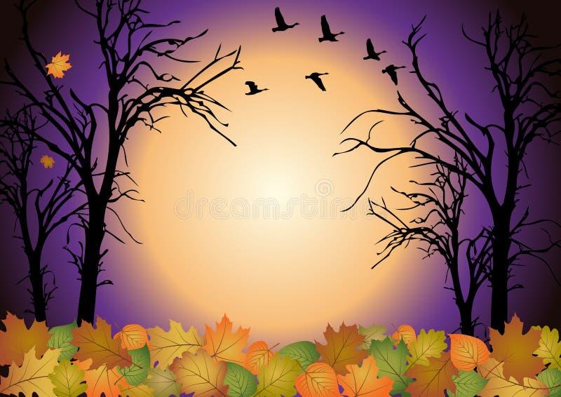Paysage d'automne illustration libre de droits