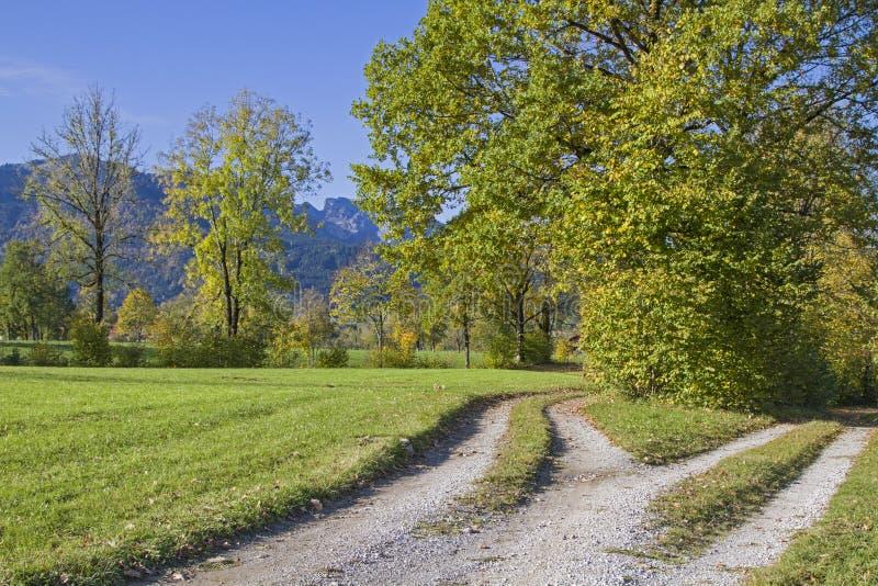 Paysage d'automne dans l'Isarwinkel images libres de droits