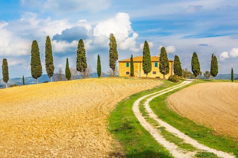 Paysage de la Toscane image stock