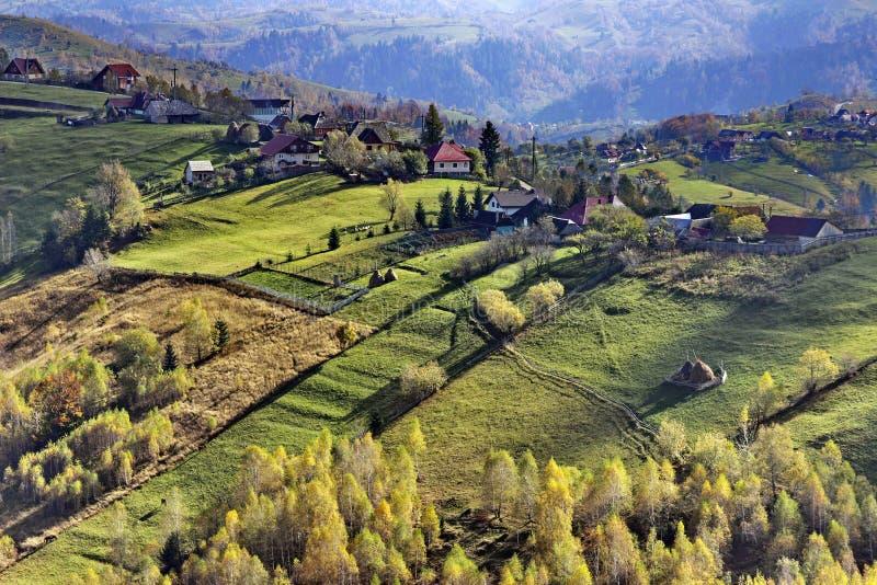Paysage d'automne en Roumanie photographie stock libre de droits