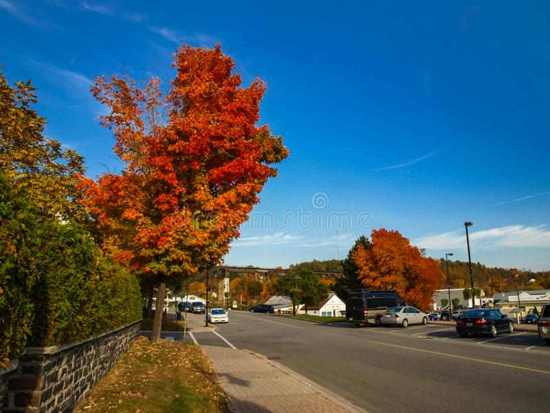 Paysage d'automne sur le lac Huron image stock