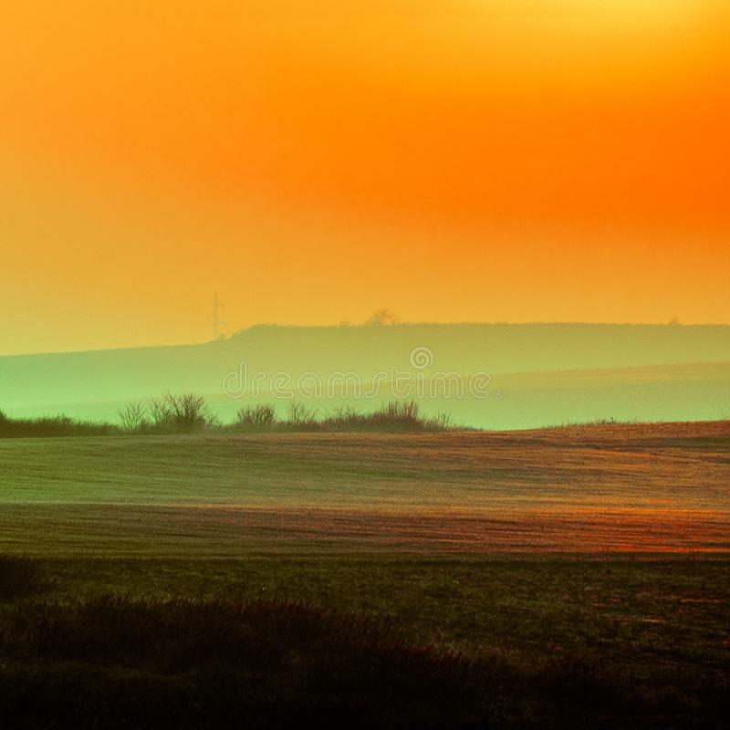 Paysage d'or image stock